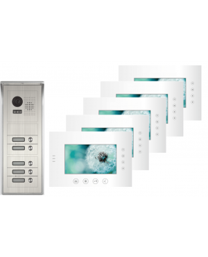 Futuro Video Intercom voor 5 appartementen